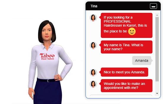 salon-chatbot avatar example